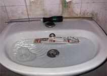 отпушване-на-запушена-мивка